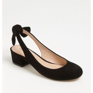 Sole Society New Opal Black Suede Heels